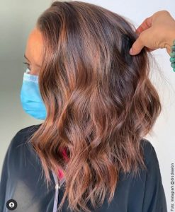 foto de cabello tinturado cobrizo