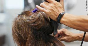 foto de tintura de cabello cafe