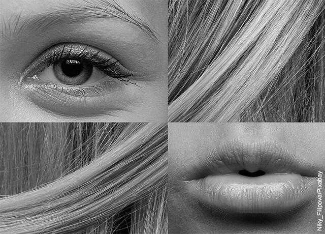 Foto de collage con figura de mujer