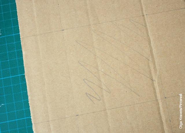 Foto de una lámina de cartón