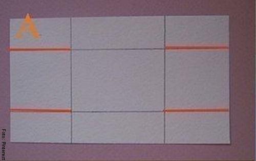 Foto de una lamina de cartón para ilustrar cómo hacer una caja