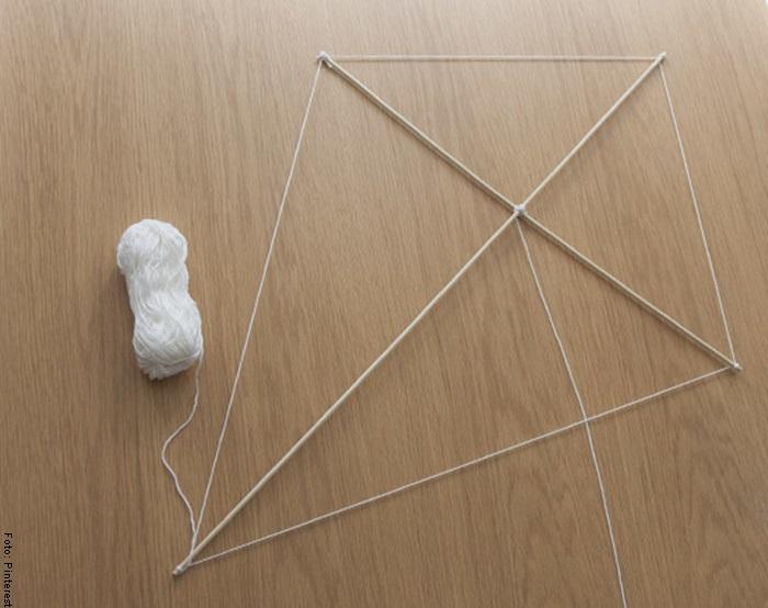 Foto de la estructura de cometa para ilustrar cómo hacer una cometa