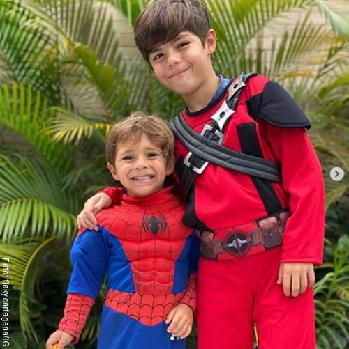 Foto de los hijos de Mabel Cartagena