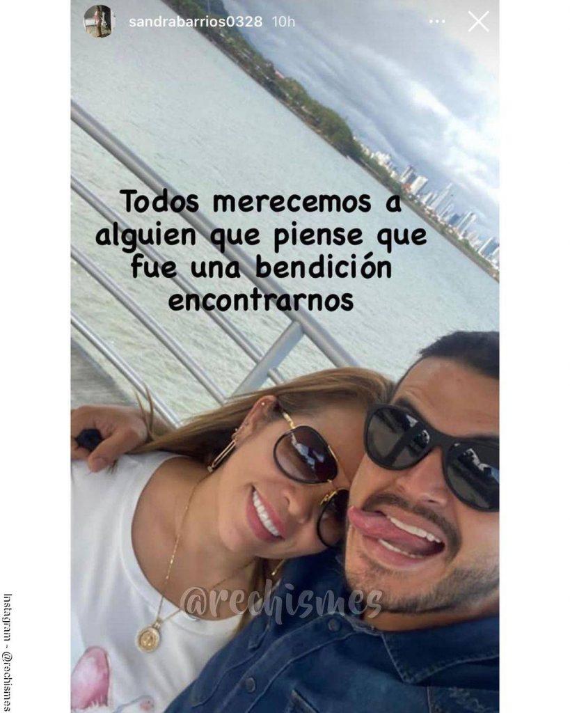 Screenshot de la foto del mensaje de Sandra Barrios publicado por otra cuenta de Instagram