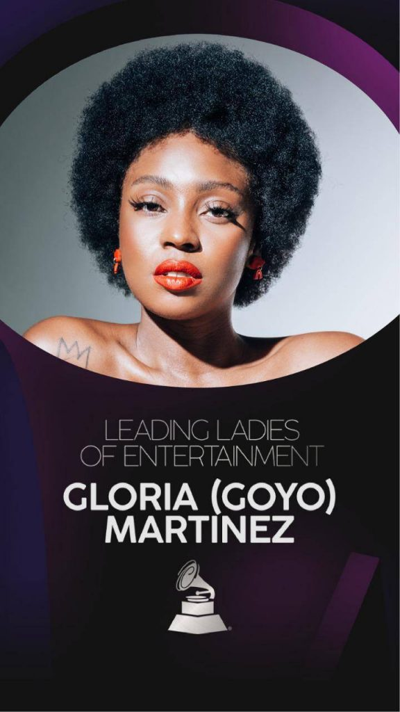 Foto de Goyo para anunciar el premio que recibió por parte de los Latin Grammy