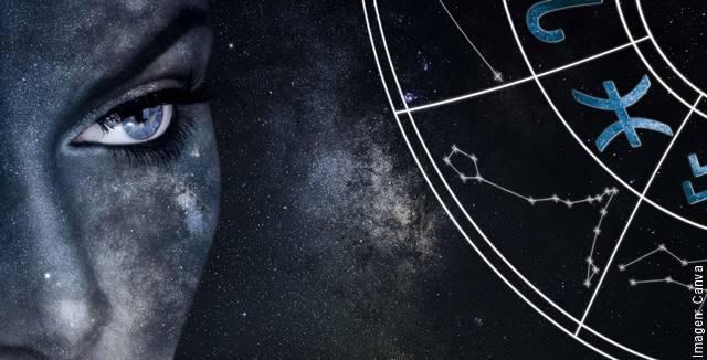 Imagen de unos ojos con signos del zodiaco para ilustrar el horóscopo negro