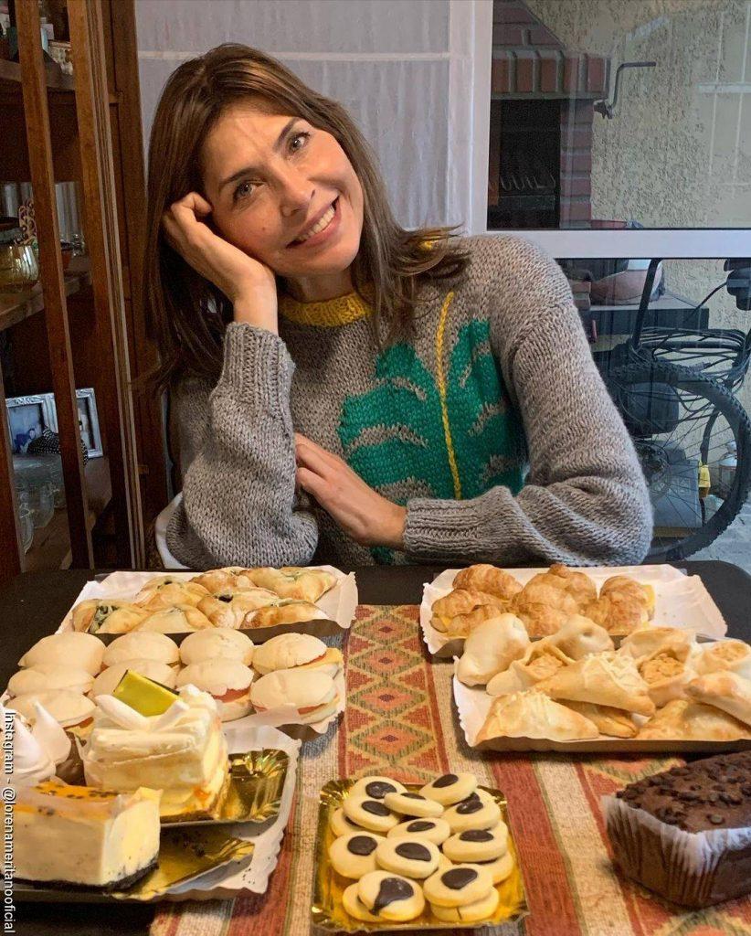 Foto de Lorena Meritano celebrando sus 50 años