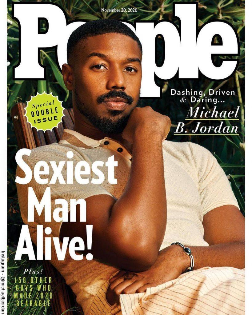 Foto de Michael B. Jordan en la portada de la Revista People como el hombre vivo más sexy del 2020
