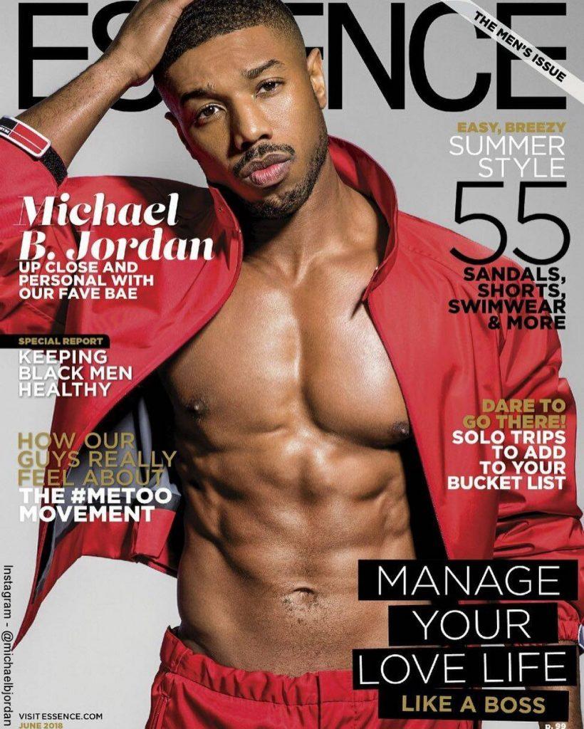 Foto de Michael B. Jordan en la portada de la Revista Essence