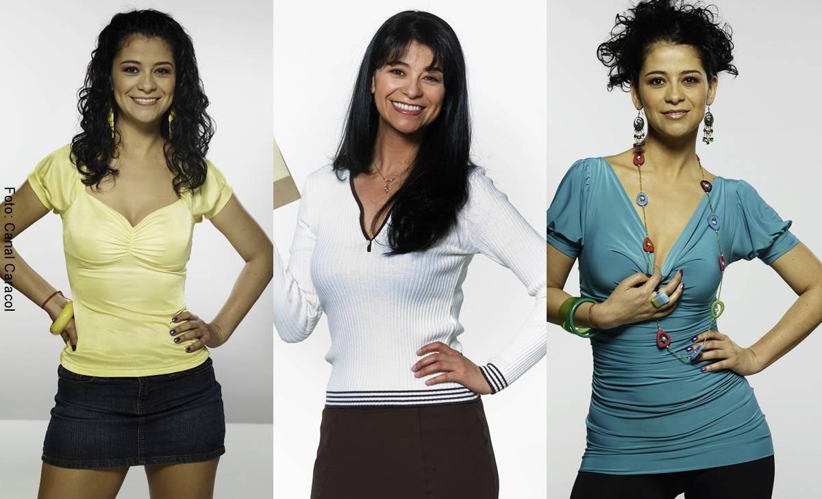 Fotos de Aura Helena Prada para sus personajes en el Canal Caracol