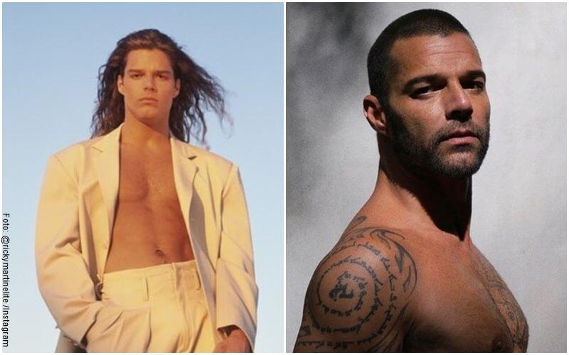 Fotos de Ricky Martin de hace 20 años y de la actualidad