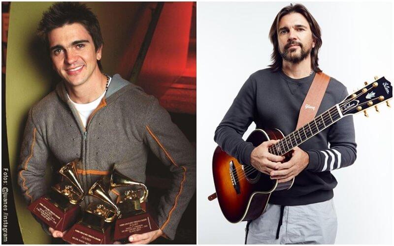 Fotos de Juanes hace 20 años vs ahora