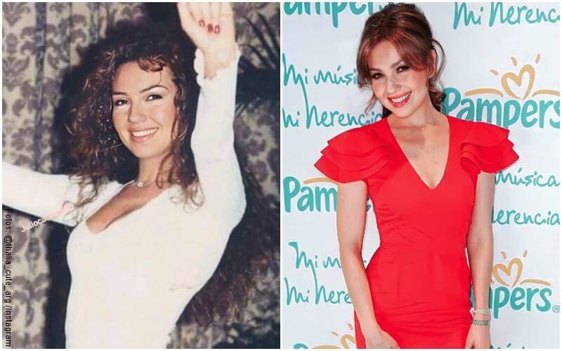 Fotos de Thalia hace 20 años vs ahora