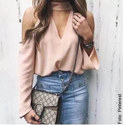 foto de blusa con escote