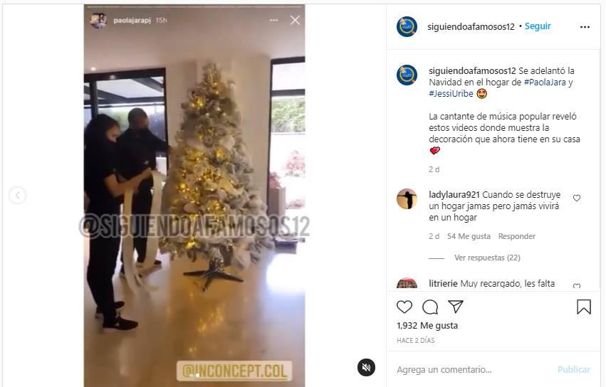 Screenshot de la cuenta siguiendo a famosos 12 que publicó los videos hechos por Paola Jara