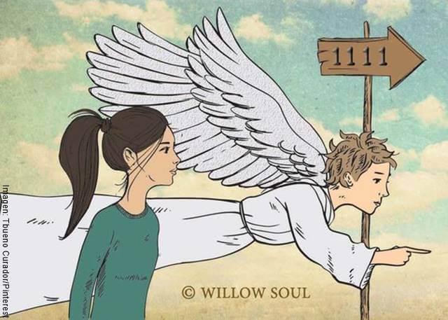Foto de un ángel guiando a una persona para ilustrar ¿qué pasa cuando veo la hora a las 11 11?