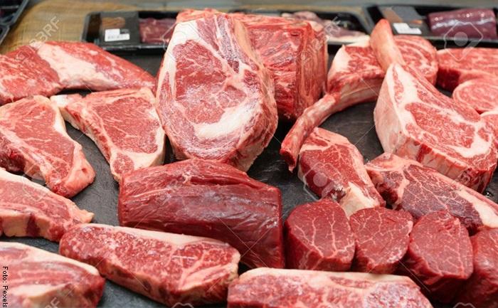 Foto de muchos pedazos de carne cruda