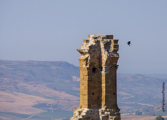 Foto de las ruinas de un templo