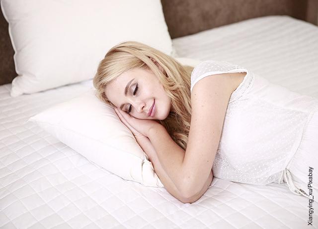 Foto de una mujer durmiendo