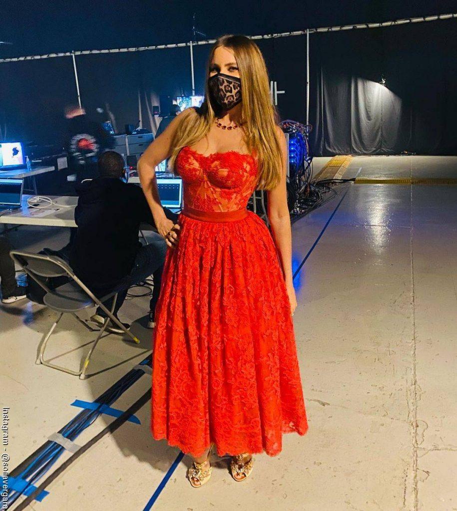 Foto de Sofía Vergara en el backstage de los People's Choice Awards.