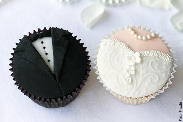 foto de cupcake de matrimonio