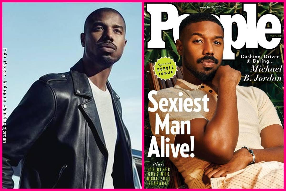 Foto comparando a Michael B. Jordan en la portada de People y como se ve actualmente