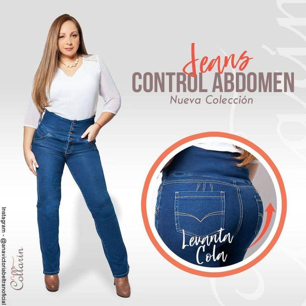 Foto de Ana Victoria Beltrán luciendo unos jeans ajustados