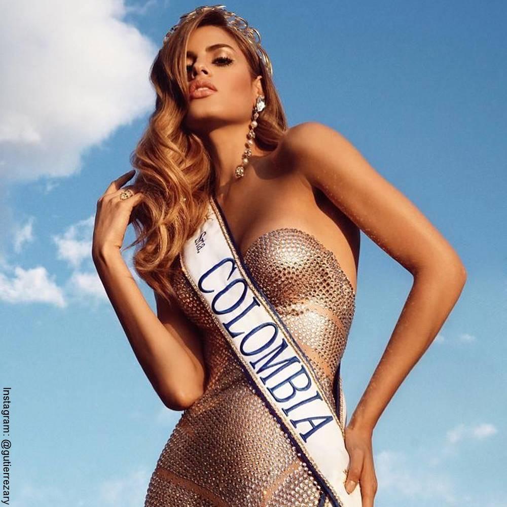 Foto de Ariadna Gutiérrez cuando participó en Mis Universo 2015