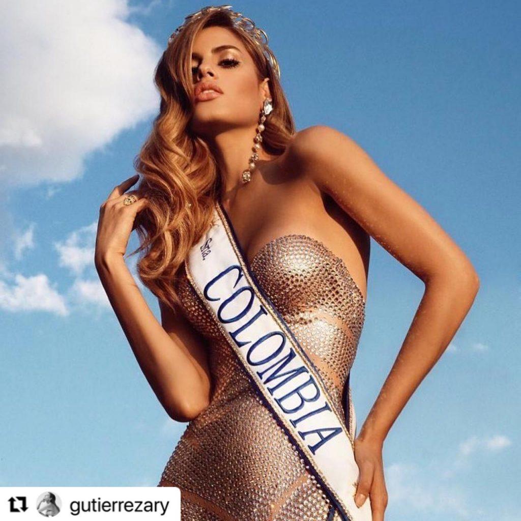 Ariadna Gutiérrez posando como Señorita Colombia.