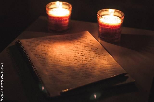 Foto de una carta escrita a mano