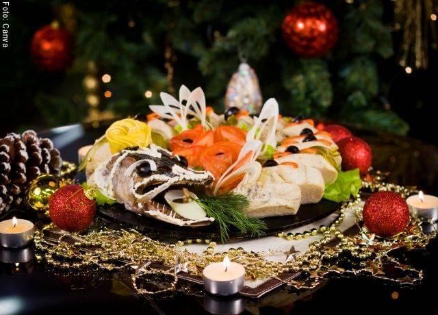 Foto de una cena de fin de año