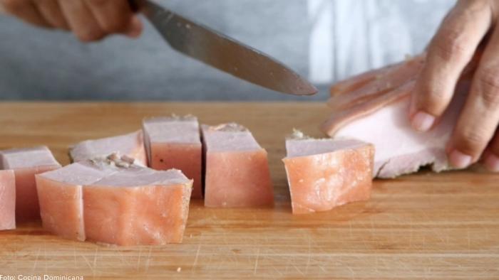 Foto de unos trozos de carne de cerdo