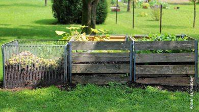 Foto de composteras al aire libre