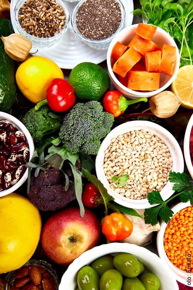 foto de alimentos naturales