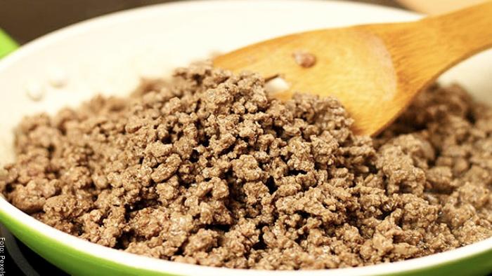 Foto de un plato de carne molida