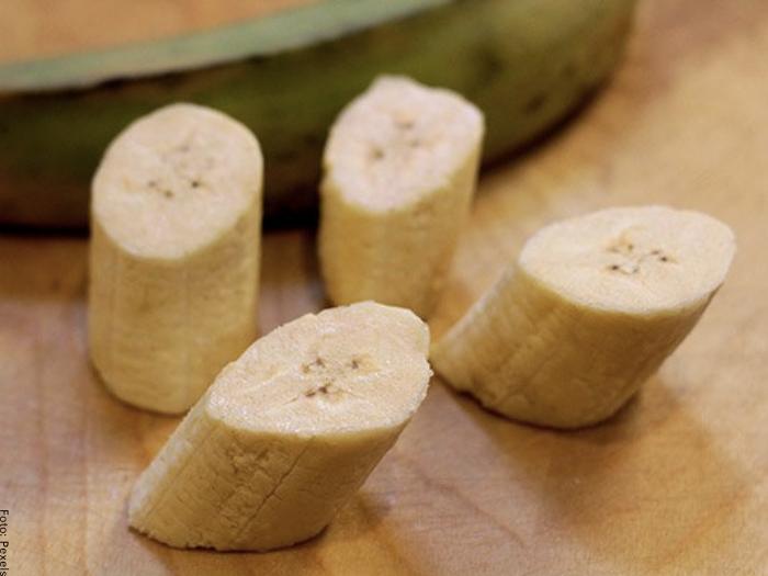 Foto de los plátanos cortados en rodajas