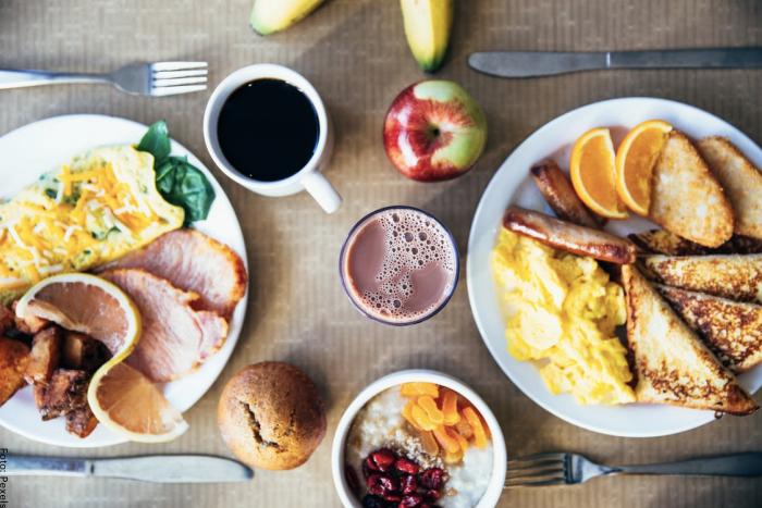 Foto de un desayuno delicioso