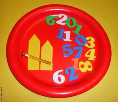 Foto de los números y las manecillas del reloj para niños