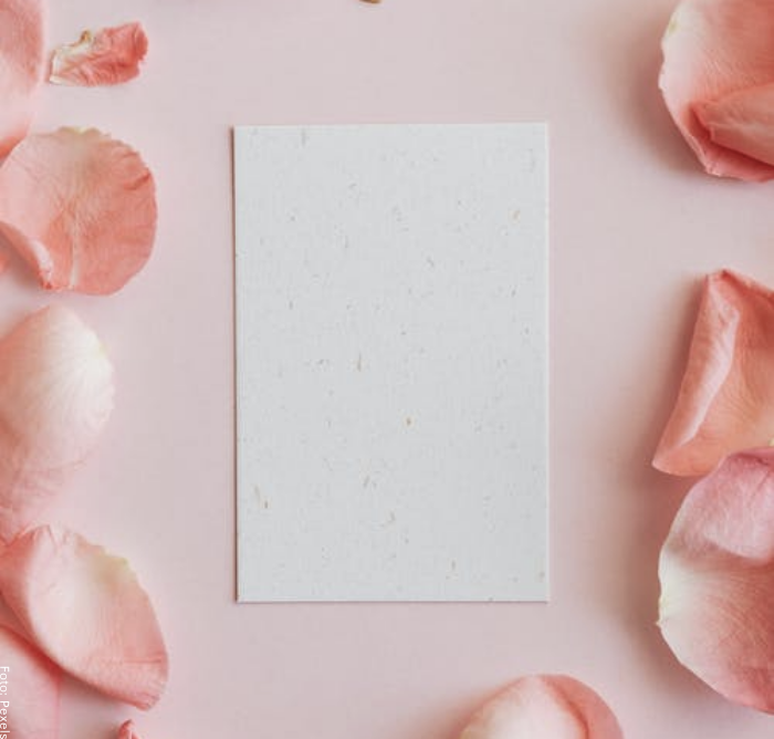 Foto de una hoja para ilustrar cómo hacer una carta de amor