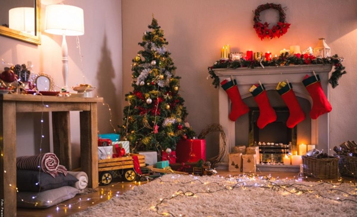 Cómo hacer una chimenea navideña muy original
