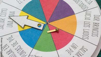 Foto de una manualidad que muestra cómo hacer una ruleta