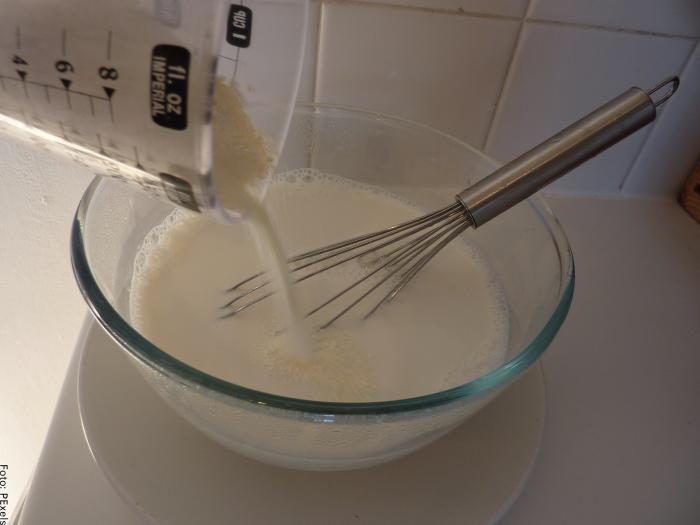 Foto de la mezcla de leche con yogurt