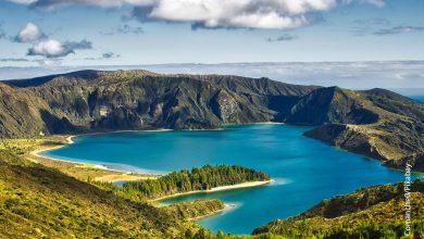 Foto de un paisaje con una laguna que muestra el cuidado de la biodiversidad