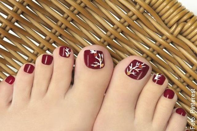 foto de uñas de los pies decoradas navidad