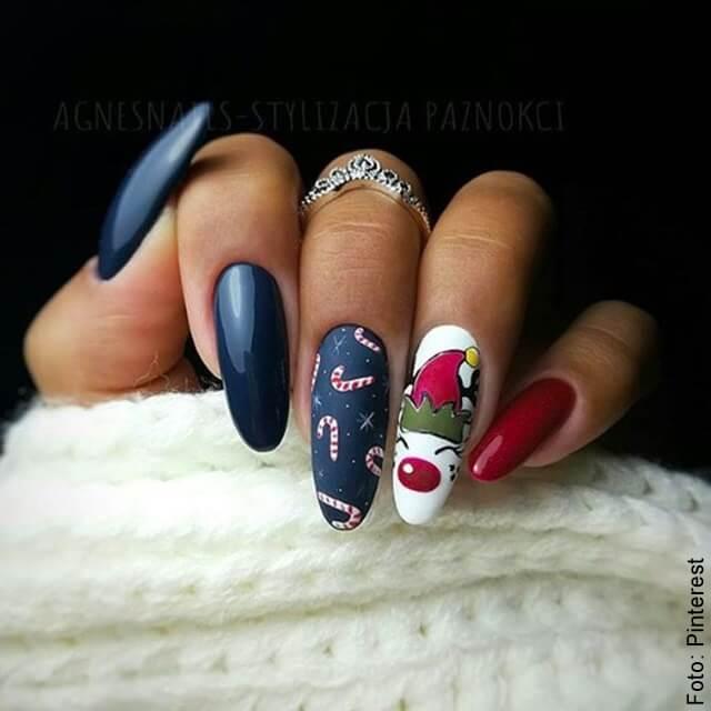 foto de uñas decoradas navidad