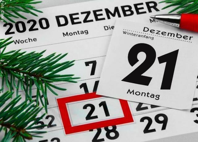 Foto de un calendario de 2020