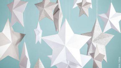 Estrellas de Navidad 3 D hechas en casa, fácil y rápido