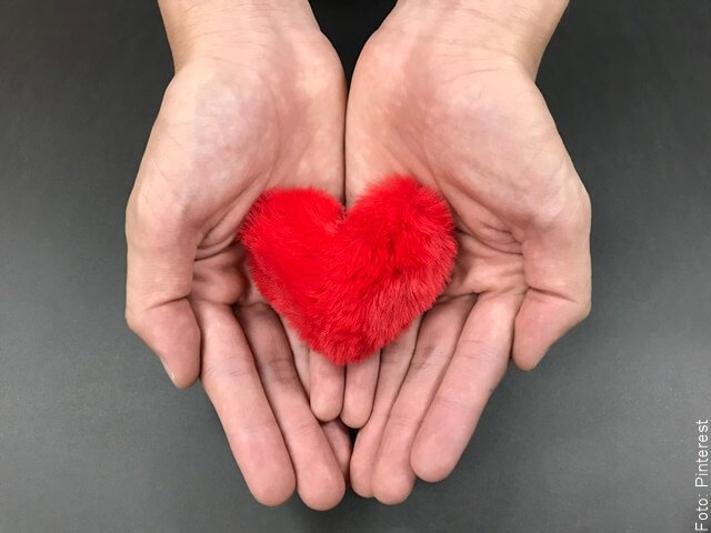 foto de dos manos sosteniendo un corazón de felpa