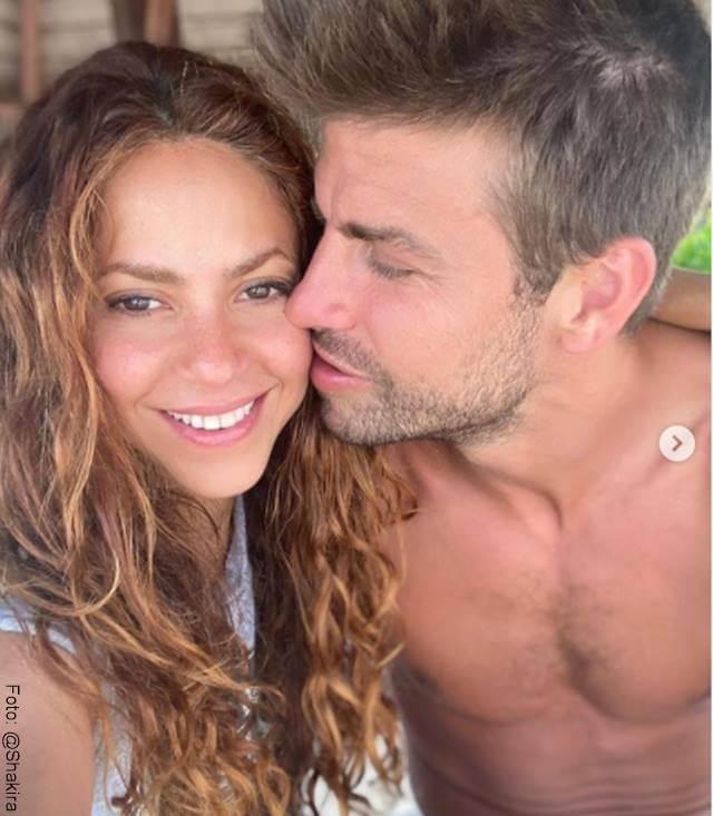 Foto de Shakira y su pareja