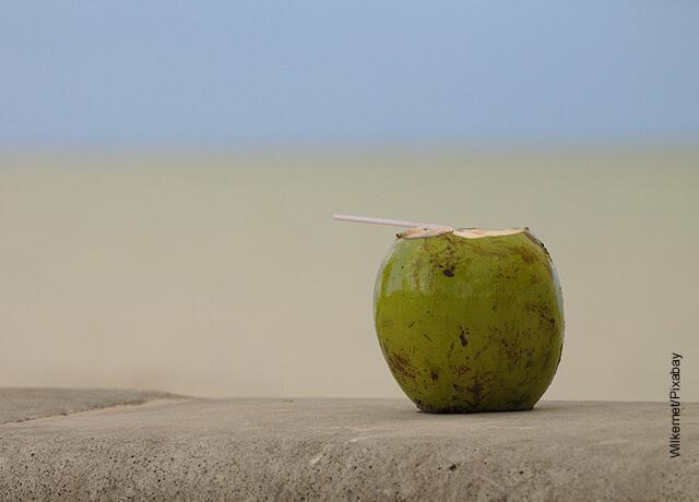 Foto de un coco pelado